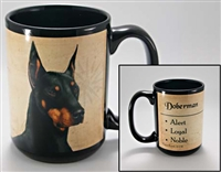 Doberman Coastal Coffee Mug Cup www.SaltyPaws.com