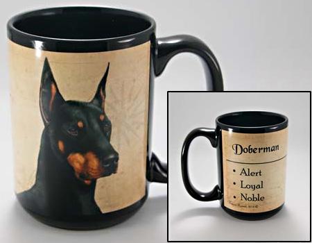 Doberman Coastal Coffee Mug Cup Www Saltypaws Com