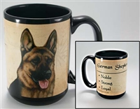 German Shepherd Coastal Coffee Mug Cup www.SaltyPaws.com