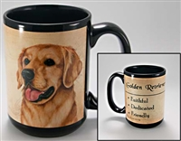 Golden Retriever Coastal Coffee Mug Cup www.SaltyPaws.com