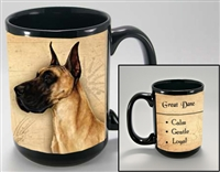 Great Dane Coastal Coffee Mug Cup www.SaltyPaws.com