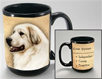 Great Pyrenees Coastal Coffee Mug Cup www.SaltyPaws.com