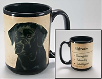 Labrador Retirever Black Coastal Coffee Mug Cup www.SaltyPaws.com