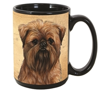 Brussels Griffon Coastal Coffee Mug Cup www.SaltyPaws.com
