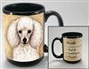 White Poodle Coastal Coffee Mug Cup www.SaltyPaws.com