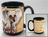 Chinese Crested Dog Coastal Coffee Mug Cup www.SaltyPaws.com