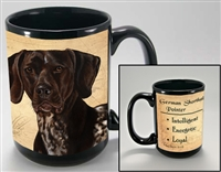 German Shorthair Pointer Coastal Coffee Mug Cup www.SaltyPaws.com