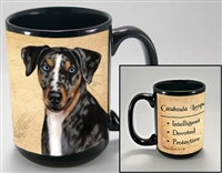 Catahoula Leopard Dog Coastal Coffee Mug Cup www.SaltyPaws.com