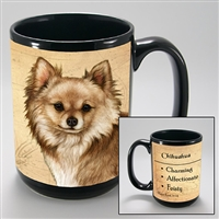 Chihuahua Long Haired Coastal Coffee Mug Cup www.SaltyPaws.com