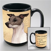 Italian Greyhound Coastal Coffee Mug Cup www.SaltyPaws.com