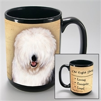 Old English Sheepdog Coastal Coffee Mug Cup www.SaltyPaws.com