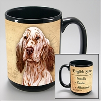 English Setter Coastal Coffee Mug Cup www.SaltyPaws.com