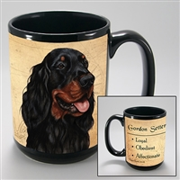Gordon Setter Coastal Coffee Mug Cup www.SaltyPaws.com