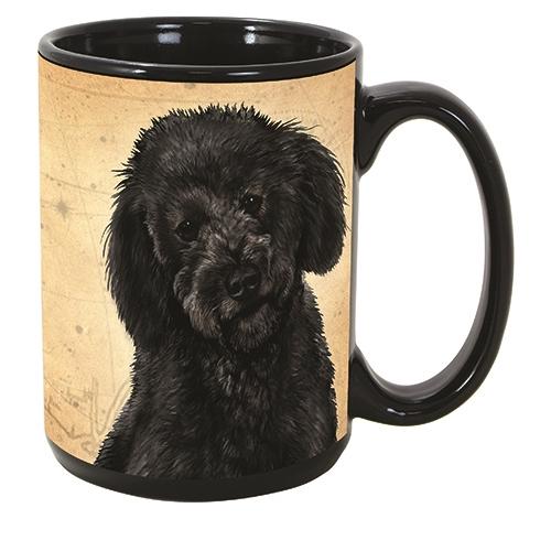 Labradoodle Black Coastal Coffee Mug Cup