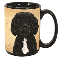 Portuguese Water Dog Coastal Coffee Mug Cup www.SaltyPaws.com