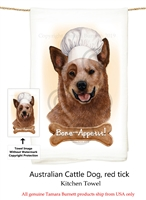 Australian Cattle Dog Red Heeler Flour Sack Kitchen Towel
