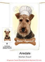 Airedale Terrier Flour Sack Kitchen Towel