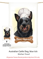 Australian Cattle Dog Blue Heeler Flour Sack Kitchen Towel