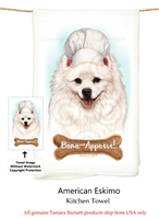 American Eskimo Flour Sack Kitchen Towel