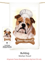 English Bulldog Flour Sack Kitchen Towel