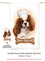 Cavalier King Charles Spaniel Blenheim Flour Sack Kitchen Towel