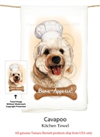 Cavapoo Flour Sack Kitchen Towel