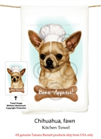 Chihuahua Fawn Flour Sack Kitchen Towel