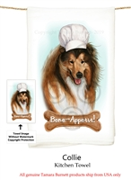 Collie Sable Flour Sack Kitchen Towel