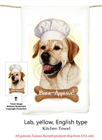 Labrador Yellow Flour Sack Kitchen Towel