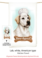 Labrador White Flour Sack Kitchen Towel