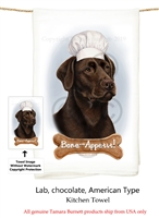 Labrador Chocolate Flour Sack Kitchen Towel
