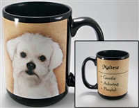 Maltese Coastal Coffee Mug Cup www.SaltyPaws.com