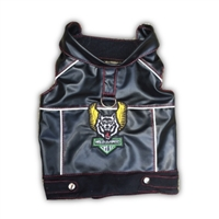 Harley-Davidson® Black Shirt With Bar and Shield on Back For Dogs available at SaltyPaws.com