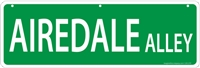 "Airedale Street Sign ""Airedale Alley"""