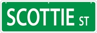 "Scottish Terrier Street Sign ""Scottie St"""