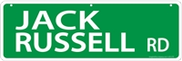 "Jack Russell Terrier Street Sign ""Jack Russell Rd"""