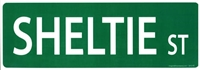 "Shetland Sheepdog Street Sign ""Sheltie St"""