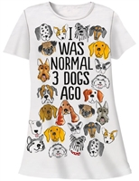 """I Was Normal 3 Dogs Ago"" Sleep Shirt at www.saltypaws.com"