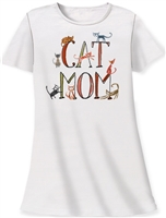 """Cat Mom"" Sleep Shirt at www.saltypaws.com"