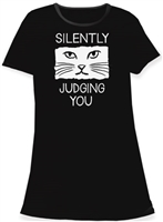 """Silently Judging You"" Sleep Shirt at www.saltypaws.com"