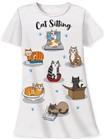 """Cat Sitting"" Sleepshirt at www.saltypaws.com"