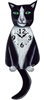 Tuxedo Cat Wagging Tail Clock www.SaltyPaws.com