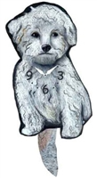 Bichon Wagging Tail Clock www.SaltyPaws.com