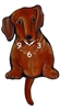 Dachshund Wagging Tail Clock www.SaltyPaws.com