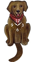 Labrador Retriever Wagging Tail Clock www.SaltyPaws.com