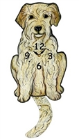 Goldendoodle Wagging Tail Clock www.SaltyPaws.com