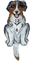 Aussie Wagging Tail Clock www.SaltyPaws.com