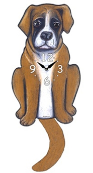 Boxer Wagging Tail Clock www.SaltyPaws.com