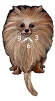 Pomeranian Wagging Tail Clock www.SaltyPaws.com