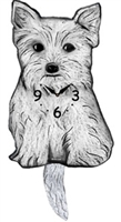 West Highland Terrier Wagging Tail Clock www.SaltyPaws.com